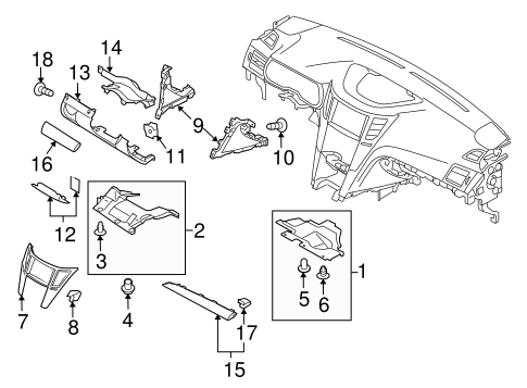 Instrument Panel Components For 2011 Subaru Legacy