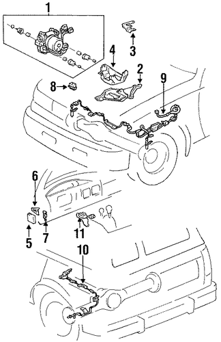 BRAKES/ANTI-LOCK BRAKES for 1996 Toyota Land Cruiser #2