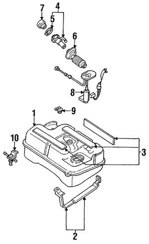 Mazda GE61-60-960F Fuel Tank Sending Unit