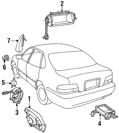 ELECTRICAL/AIR BAG COMPONENTS for 1996 Toyota Avalon #1