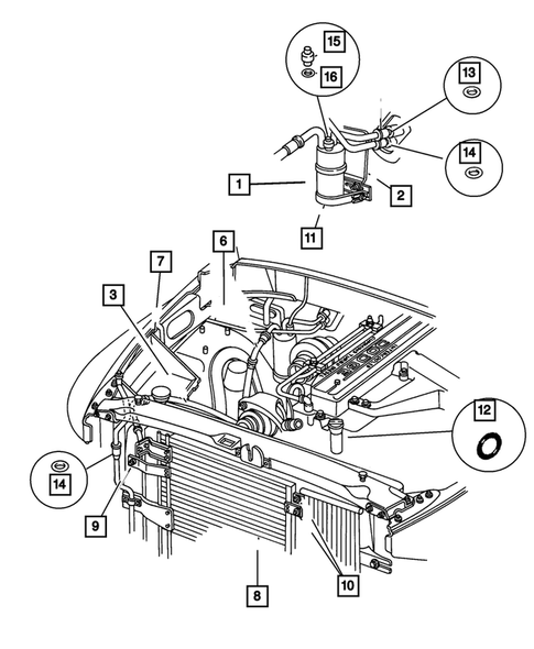 Air Conditioner and Heater Plumbing for 2001 Dodge Ram 1500 | Thomas Dodge  PartsThomas Dodge Parts