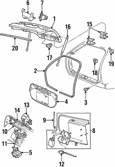 liftgate for 1998 mercury sable