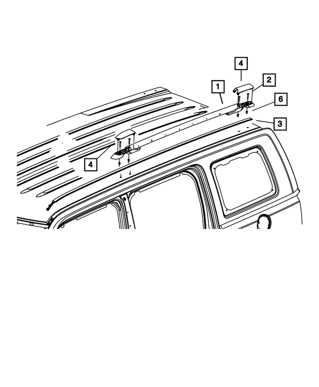 Roof Rack Side Rail, Right - Mopar (5116252AC)