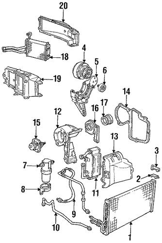 oem 1993 gmc jimmy blower motor  u0026 fan parts