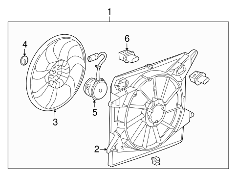 cooling fan for 2011 cadillac srx
