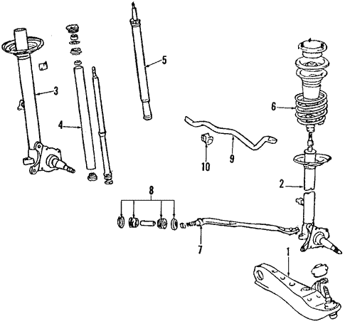 Suspension Components for 1986 Toyota Supra #1