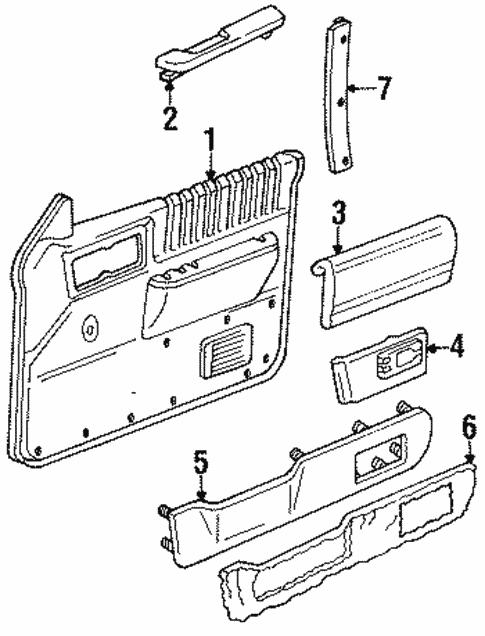 Oem 1991 Chevrolet S10 Blazer Interior Trim