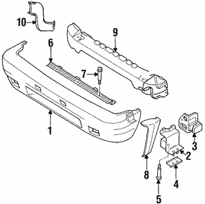 Bracket, R Side Bumper
