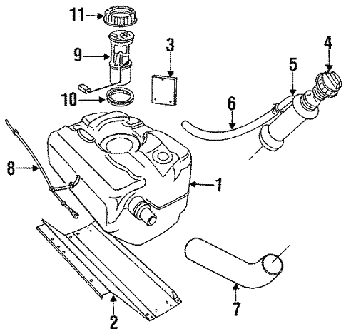 Fuel System Components For 1994 Land Rover Defender 90