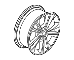 Wheel, Alloy - Ford (GJ5Z-1007-D)
