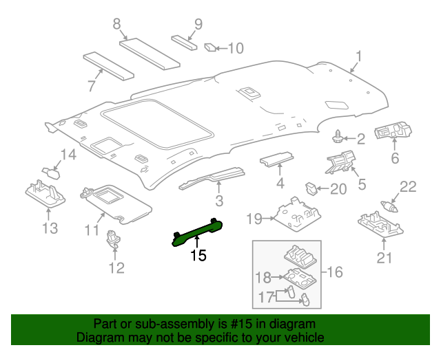 TOYOTA 74610-42060-B0 Assist Grip Assembly