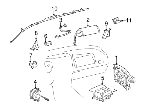 Air Bag Components for 2004 Toyota RAV4 #0