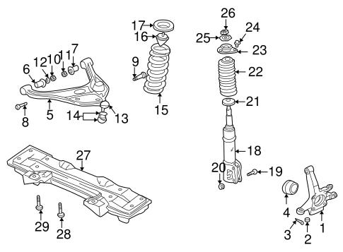 Suspension Components for 1999 Suzuki Grand Vitara   World OEM Parts SubaruWorld Suzuki Subaru Parts - World OEM Parts