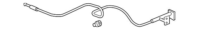 Genuine Honda 74130-SJC-A00ZB Hood Wire Assembly