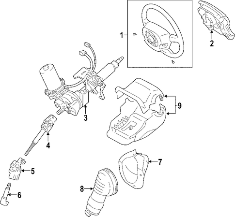 STEERING/STEERING COLUMN for 2009 Toyota Prius #1