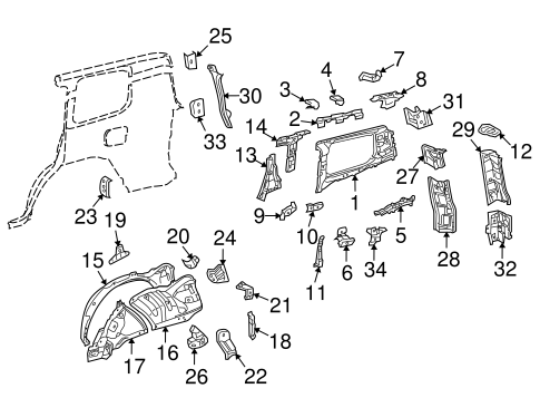 BODY/INNER STRUCTURE for 2015 Toyota Land Cruiser #1