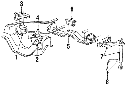 [DIAGRAM_38DE]  Engine Mounting for 1997 Mazda B4000 | Medlin Mazda Parts | Mazda B4000 4 0 Engine Diagram |  | Medlin Mazda Parts