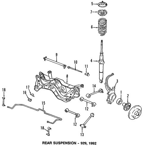 rear suspension/rear suspension for 1993 mazda 929 #1