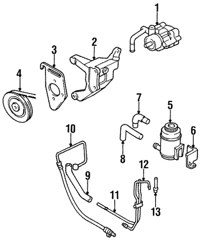 1995 2002 Kia Sportage Power Steering Pump Adjust Bracket 0k012