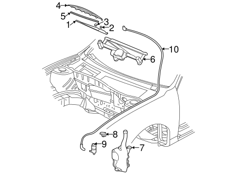Wiper Washer Components For 2001 Chevrolet Malibu
