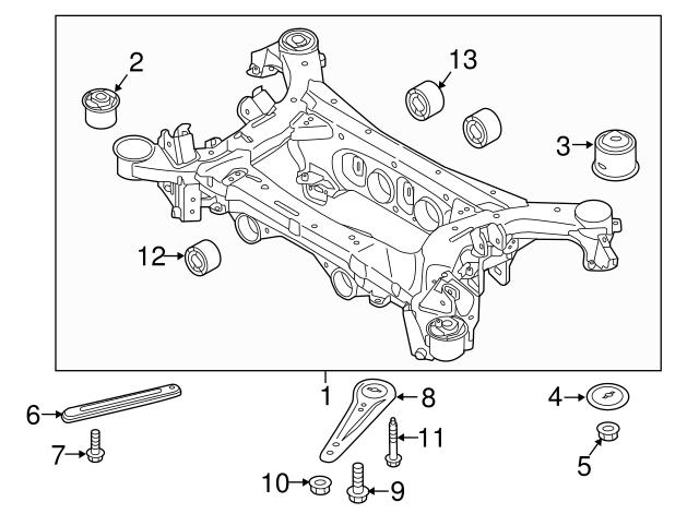 Genuine Hyundai 55495-3M000 Suspension Crossmember Bushing