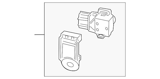 Honda Genuine 39680-TK8-A11ZE Parking Sensor Assembly