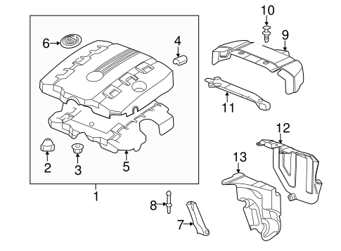Oem 2011 Cadillac Cts Engine Appearance Cover Parts