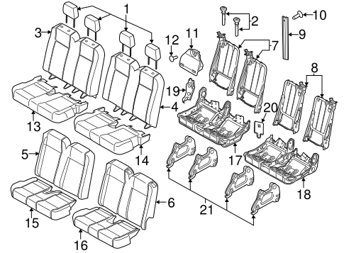 Body/Rear Seat Components for 2015 Ford Transit-150 #3