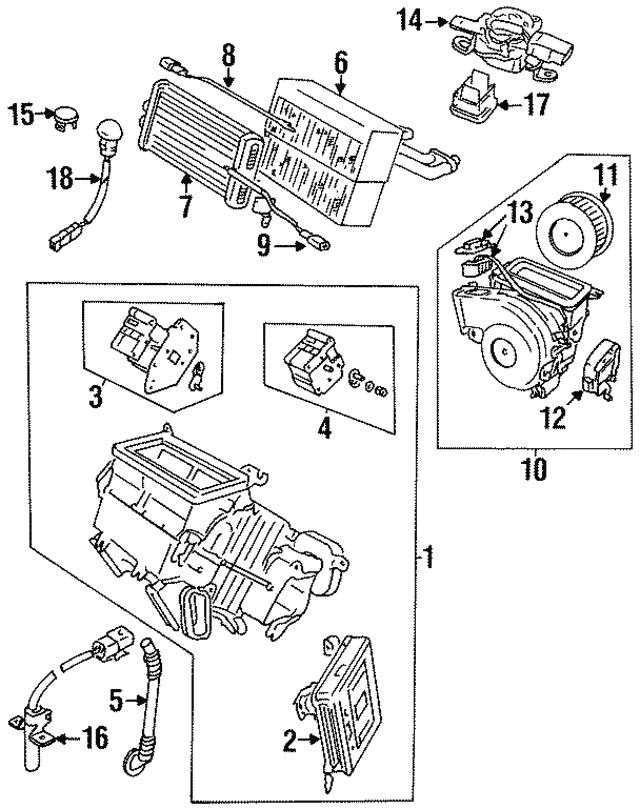 1995 1997 Jaguar Ambient Temp Sensor Lna7605ab