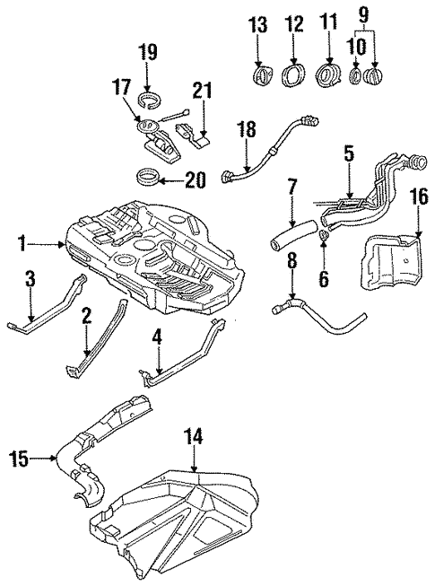 Fuel System Components for 1993 Ford Probe #0