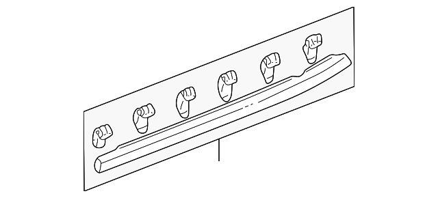 Seal, R Rear Door Sill (Lower)