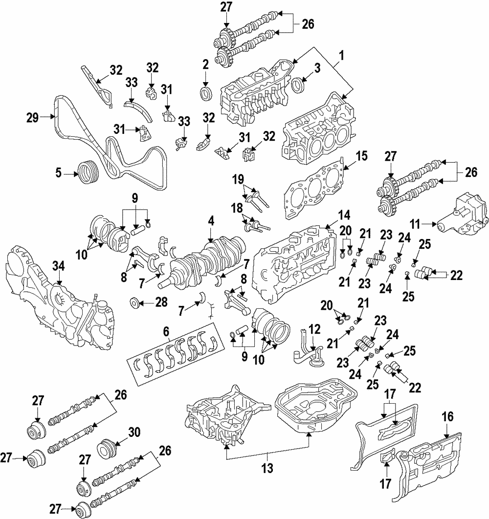 Genuine Subaru Bearing Set 12108ab350 Ebay Ea81 Wiring Diagram