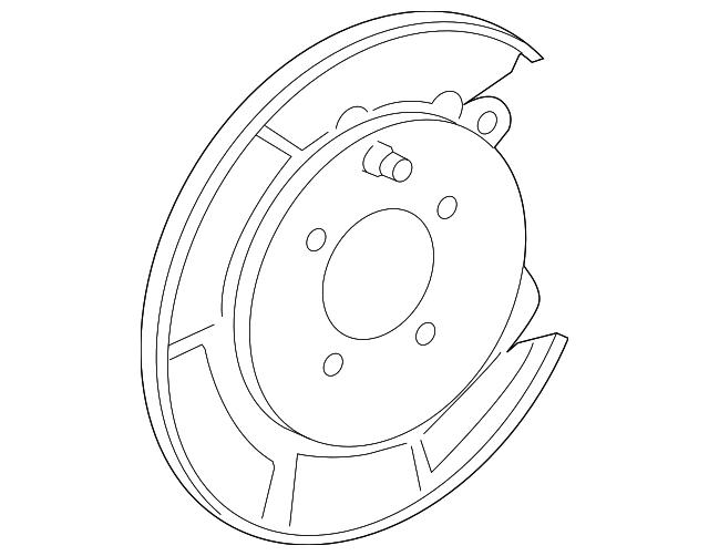 Backing Plate Toyota 46504 06080 Discmonster