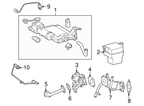 EMISSION SYSTEM/EGR SYSTEM for 2010 Toyota Prius #1