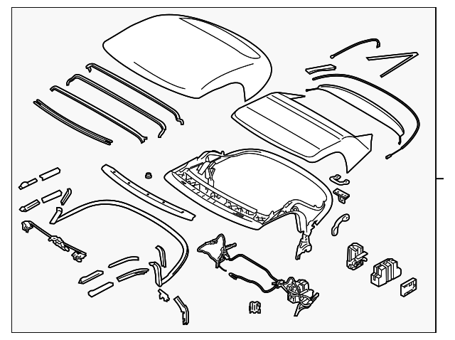 2010-2020 Nissan 370Z Folding Roof Complete 97003-1ET0A   TascaParts.comTasca Parts