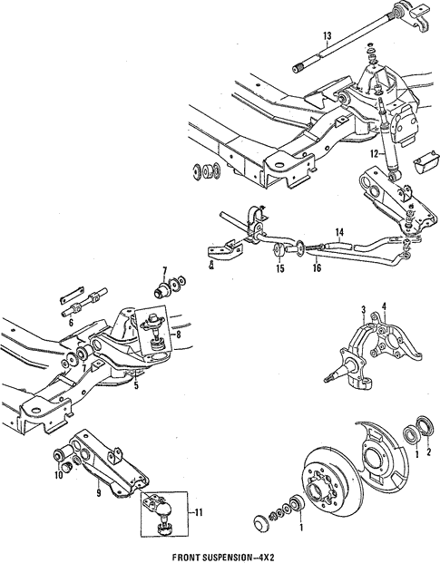front suspension for 1988 isuzu pickup