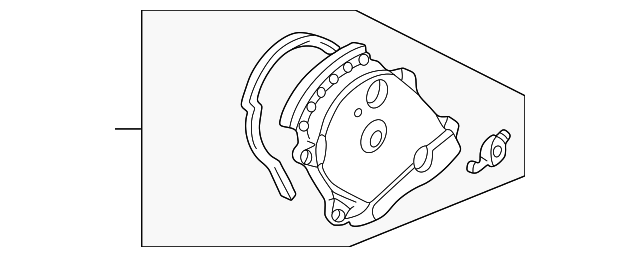 Cover Assembly, Rear Timing Belt (Upper)