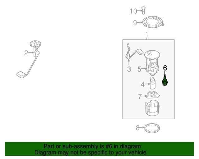 fuel pressure regulator - mazda (l3m8-13-280)