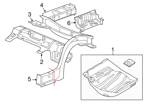Rear Floor Rails For 2018 Chrysler 300