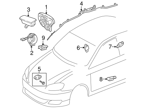 ELECTRICAL/AIR BAG COMPONENTS for 2007 Toyota Corolla #1