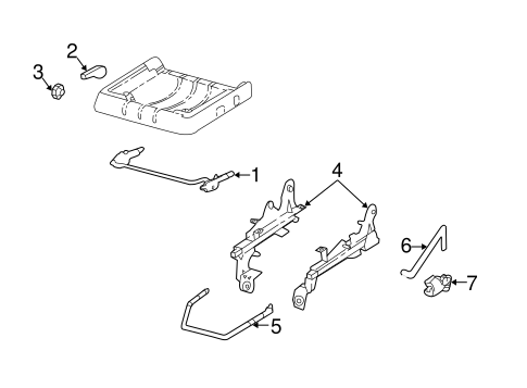 Body/Tracks & Components for 2000 Ford Ranger #1