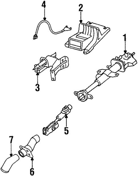 Steering Column Assembly For 2001 Oldsmobile Silhouette