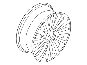 Wheel, Alloy - Ford (LC5Z-1007-E)