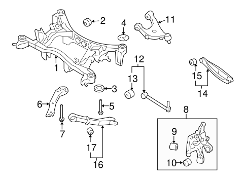 Rear Suspension For 2009 Subaru Forester Subaru Parts Store