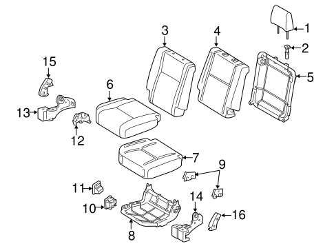 BODY/REAR SEAT COMPONENTS for 2015 Toyota Tundra #3