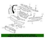 Base, R Front Grille Extension - Honda (71161-TVA-A01)