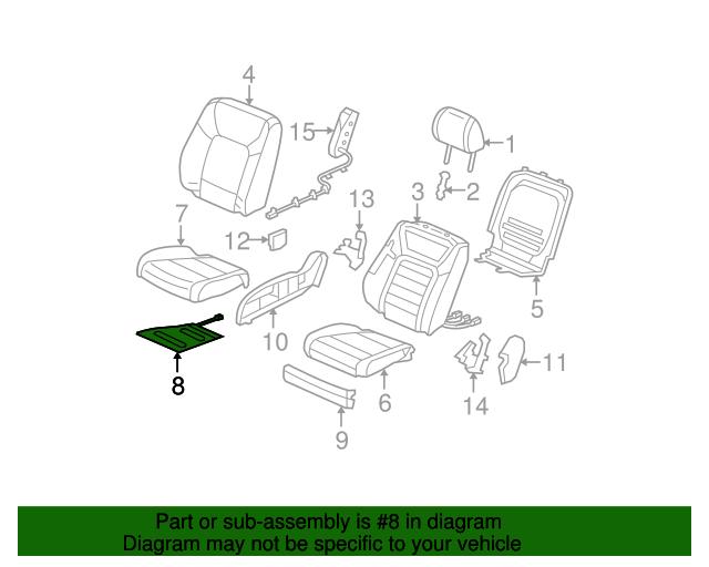 Honda Genuine 81134-SZA-A01 Seat Cushion Heater