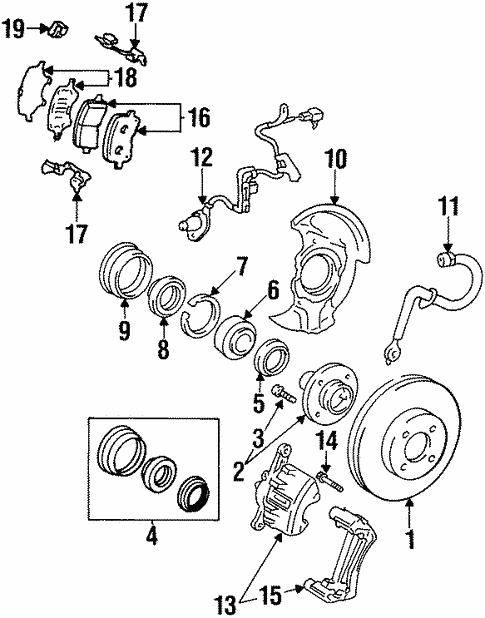 Brake Components For 2001 Chevrolet Prizm