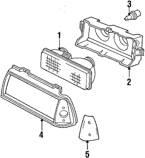 Headlamp Components For 1990 Oldsmobile 98
