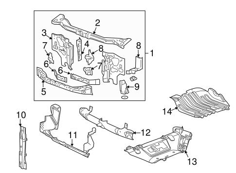 2009 hummer h3 engine diagram radiator support for 2009 hummer h3 gmpartsdirect com  radiator support for 2009 hummer h3